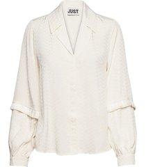 inanna shirt blouse lange mouwen wit just female