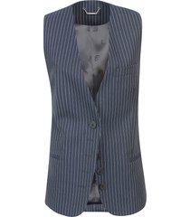 chloé pinstripe buttoned vest