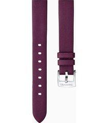 cinturino per orologio 14mm, rosso scuro, acciaio inossidabile