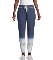 beach lunch lounge women's ombre jogger pants - dark indigo - size m