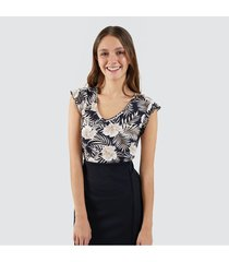 camiseta para mujer floral
