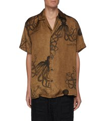octopus print short sleeve shirt