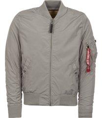alpha industries silver ma-1 tt bomber jacket 191103-31
