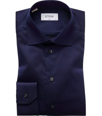 eton overhemd navy slim fit