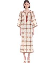 tory burch dress in beige linen
