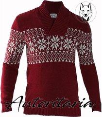 sweater cuello alto para hombre casual autoritaria pg1 - rojo