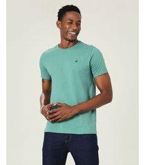 camiseta slim bordada em malha malwee verde musgo - p