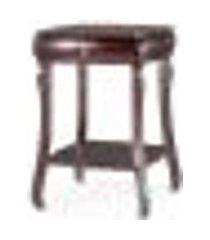 mesa lateral istambul com prateleira e gaveta abaulada tabaco