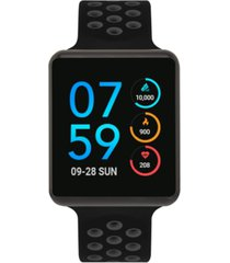 itouch unisex air black & grey silicone strap touchscreen smart watch 45mm, a special edition