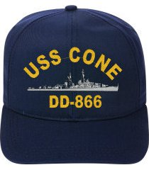 uss cone dd-866   ball cap ..new..ship hat