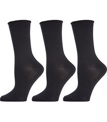3-pack roll top buttersoft crew socks