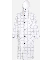 j.w. anderson cotton parka with all-over logo print
