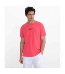 camiseta manga curta com estampa anxiety | request | vermelho | gg