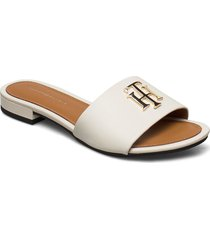 th hardware flat mule shoes summer shoes flat sandals creme tommy hilfiger