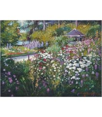 "david lloyd glover spring garden gazebo canvas art - 37"" x 49"""