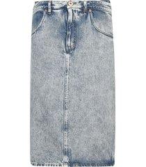 maison margiela denim straight skirt