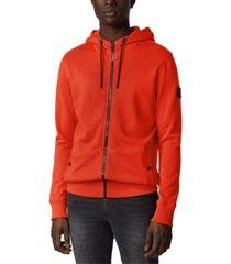 boss men's zounds dark orange jacket