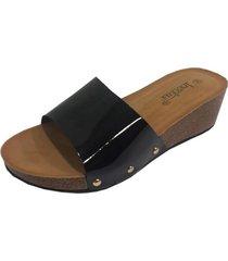 sandalia negro todopiel