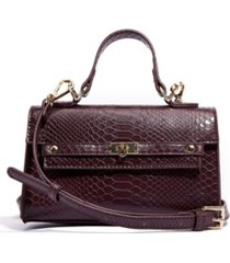 like dreams vegan leather snakeskin top handle satchel