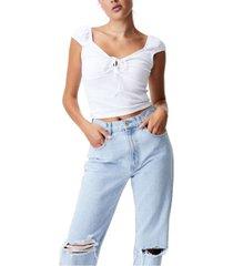 women's vivvy keyhole shorts sleeve top