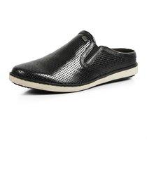 sapatenis casual calprado couro confort preta - preto - masculino - couro legãtimo - dafiti