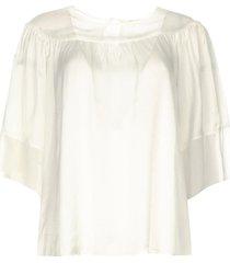 transparante blouse vivian  wit