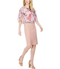 connected chiffon popover dress