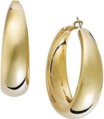 "thalia gold-tone large 2"" hoop earrings"