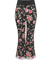 spodnie koronkowe w kwiaty