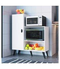 balcão fruteira p/ forno e microondas art in móveis fr100 xangai branco
