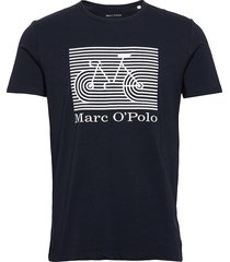 t-shirt, short sleeve, round neck, t-shirts short-sleeved svart marc o'polo