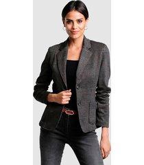 blazer alba moda antraciet::koperkleur