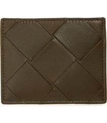 bottega veneta intrecciato leather card case - beige
