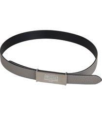 maison margiela logo stamp belt