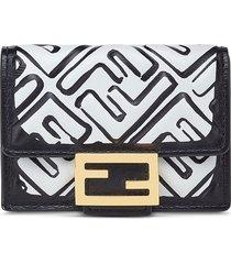 fendi logo-print tri-fold wallet - white