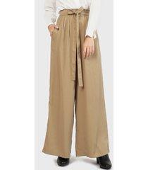 pantalón wados lazo beige - calce holgado