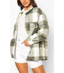 petite flannel shirt jacket, light khaki