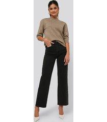 afj x na-kd loose fit jeans - black