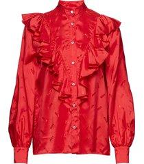 shirt blouse lange mouwen rood msgm
