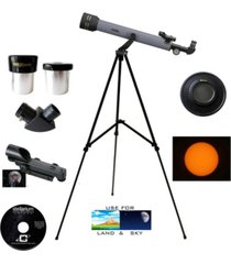galileo 600mm x 50mm day and night refractor telescope kit with solar filter cap