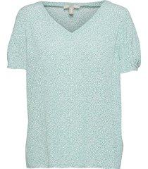 blouses woven blouses short-sleeved grön esprit casual