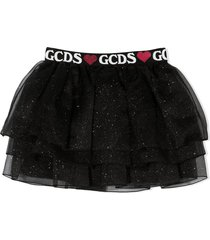 gcds black tulle skirt