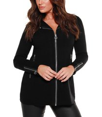 belldini black label moto sweater jacket