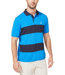 nautica men's classic-fit navtech colorblocked polo