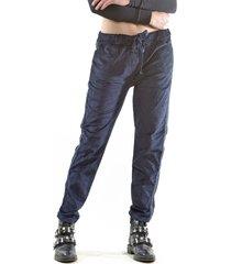 pantalón italiano línea brillo azul marino bous