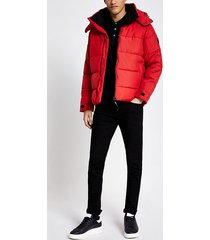 mens only and sons red puffer coat