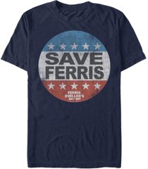 fifth sun day off men's distressed save ferris presidential button logo short sleeve t- shirt