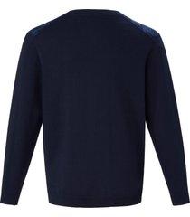 tricot trui met ronde hals van louis sayn blauw