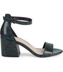 hattie snake-print block heel pumps