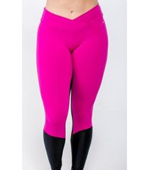 calça legging fuseau recorte cirré confort feminina